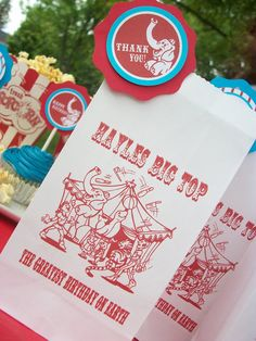 Big Top Circus/Carnival Treat BagsSet of 12 NOT by SweetbyCandy, $9.00