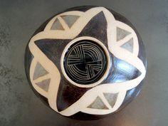 Large white geometric ceramic fruit bowl ceramic by LittleBearPots