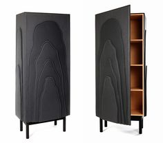 dark layer cupboard in 'wood tailoring' collection by färg & blanche