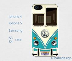 VW Camper Van Teal case Iphone 4 case iphone 4s by AlibabaDesign, $6.88