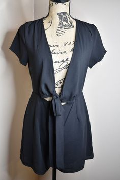 f020a5308e8 Black Romper Size Large  fashion  clothing  shoes  accessories   womensclothing  jumpsuitsrompers (ebay link)