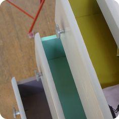Meubles vintage > Meubles vintage enfant > Commode 3 tiroirs 50's : Fabuleuse Factory