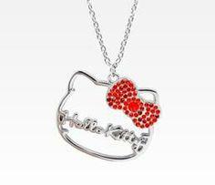 Hello Kitty face necklace