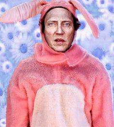 christopher walken in a pink bunny suit