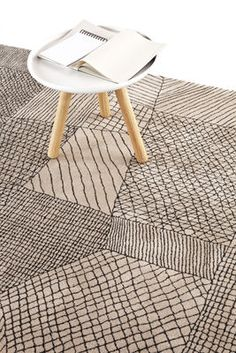 Traced rug exclusive model by Marti Guixé for made in design. Nanimarquina Carpet