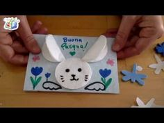 Easter: easy letter with cotton bunny Bunny Crafts, Easter Crafts, Crafts For Kids, Arts And Crafts, Happy Easter, Easter Bunny, Easy Paper Crafts, Mandala Coloring, Preschool Activities