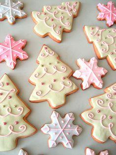 cookie monster, christma cooki, pink christmas, decorating ideas, holiday cookies, christmas sugar cookies, cookie decorating, decorated sugar cookies, christmas trees