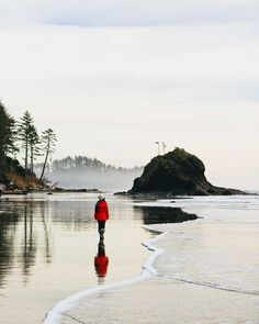 La Push Beach, Washington Coast (you might remember this beach from a Twilight scene) via @estherjulee