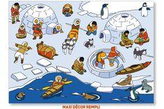 Praatplaat : Scène de vie Pôle Nord Wild Animals Pictures, Polo Norte, English For Beginners, Eskimo, Picture Writing Prompts, Hidden Pictures, Arctic Animals, Preschool Lessons, Winter Theme