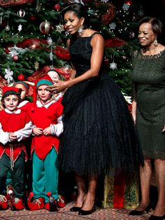 Michelle Obama in vintage dress