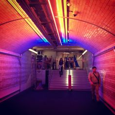 Lighting tunnel ... V - tube station's entrance