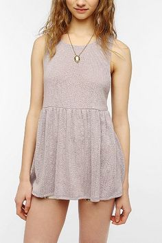 Pins And Needles Sweater Knit Babydoll Tank Top