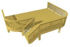 Free Deck Plans & DIY Deck Designs   Decks.com Wood Deck Plans, Free Deck Plans, Deck Cost Calculator, Decks And Porches, Patio Decks, Backyard Landscaping, Backyard Ideas, Above Ground Pool Decks, Ground Pools