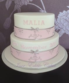 Absolutely love this cake. I'm sure you could get the same or similar using a gorgeous ribbon.