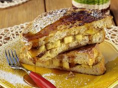 French Toast Panini with Grilled Bananas