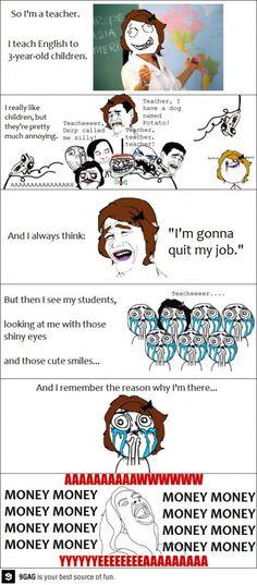 Job as a teacher for..