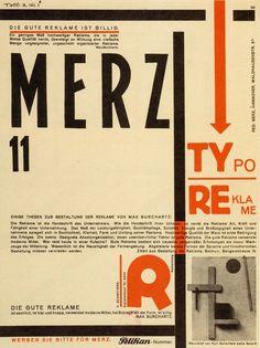 Kurt Schwitters, portada del n°11 de la revista Merz, 1924.