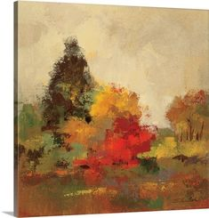Trademark Fine Art 'Fall Forest I' Canvas Art by Silvia Vassileva, Size: 24 x Brown Art Prints, Fine Art, Canvas Prints, Great Big Canvas, Painting, Painting Prints, Art, Canvas Art, Abstract