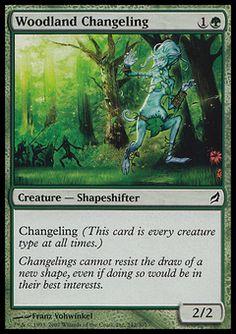 Woodland Changeling - Creature - Shapeshifter - Tree - Green - Lorwyn - Magic The Gathering Trading Card