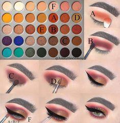Morphe x Jaclyn Hill Palette Jaclyn Hill Palette, Jaclyn Hill Eyeshadow Palette, Morphe Eyeshadow, Makeup Morphe, Jacklyn Hill Palette Looks, Makeup Palette, Eyeshadows, Makeup Pictorial, Makeup Tutorial Eyeliner