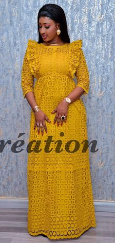 Maryline Long African Dresses, African Lace Styles, Latest African Fashion Dresses, African Print Dresses, African Print Fashion, African Wear, African Attire, Africa Dress, African Traditional Dresses