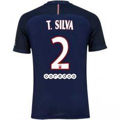 Paris Saint Germain PSG 16-17 Thiago Silva 2 Hemmatröja Kortärmad  #Billiga fotbollströjor Paris Saint Germain Fc, Psg, Shoes, Thiago Silva, Zapatos, Shoes Outlet, Shoe, Footwear
