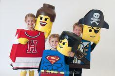 DIY Lego Costumes: Lego Heads