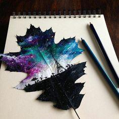 Wonderful Leaf Paintings by Polish Artists Joanna Wirażka.