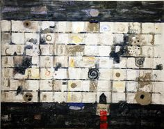 Painting Of June 2015 by Syrian artist Nizar Sabour at Foresight32 Art Gallery.  Nizar Sabour was born in Lattakia, Syria in 1958. He graduated from the Faculty of Fine Arts, Damascus University in 1981 and obtained his PhD from Moscow University in The Philosophy of Art in 1990.    Title: Light between darkness Size: 110x140 cm Medium: Mixed media on canvas
