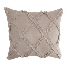I pinned this Lattice Pillow in Flax from the Breezy Bedroom event at Joss and Main!