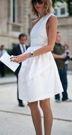 Summer, White Dress.