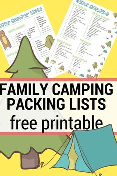 Simplify your family camping with these printable camping packing lists | Get camping tips and packing tips for this summer | #printable #checklist #campingtip #packinglists #takethemoutside