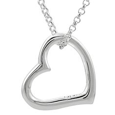 925 sterling silver heart pendant Love Free Shipping necklace simple wear chain #Inter #Pendant