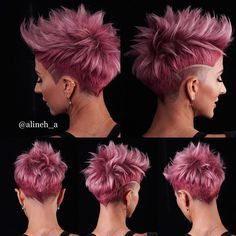 Its a weird question to be asked . what does the back of your head look like? but I get this question. Short Sides Haircut, Side Haircut, Latest Hair Color, Cool Hair Color, Hair Colors, Short Hair With Layers, Short Hair Cuts For Women, Medium Hair Styles, Short Hair Styles