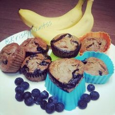 Ripped Recipes - Banana Blueberry Protein Muffins - A healthy yummy favorite with a protein punch!