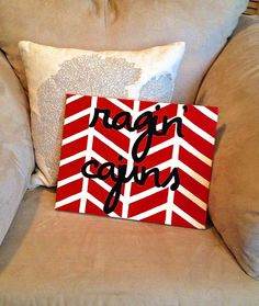 Chevron Ragin Cajuns Painting! Can be made for any college!