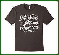 Mens 94th Birthday Gifts - 94 Years Of Being Awesome T-shirt Large Asphalt - Birthday shirts (*Amazon Partner-Link)
