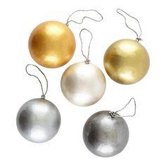 Ice Globe Ornaments (Set of 5)