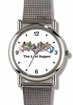 The Last Supper Christian Theme - WATCHBUDDY® ELITE Chrome-Plated Metal Alloy Watch with Metal Mesh Strap-Size-Small ( Children's Size - Boy's Size & Girl's Size ) WatchBuddy. $79.95