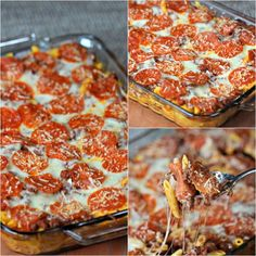 This easy pizza casserole recipe is a family pleaser! An Easy casserole recipe. Plus this pizza pasta casserole is an easy freezer meal. Try it today! Easy Casserole Dishes, Pizza Casserole, Pizza Bake, Easy Freezer Meals, Fast Easy Meals, Pizza Recipes, Cooking Recipes, Meatloaf Recipes, Beef Recipes