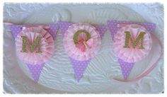 Mother's Day Decoration Beautiful Shabby Chic  Mom Banner