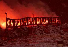 . Thessaloniki, Football Fans, Neon Signs