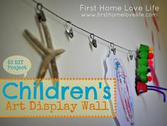 Hang Your Child's Heartwork DIY