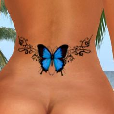 sexy butterfly tattoo small lower back | BLUE BUTTERFLY LOWER BACK contents