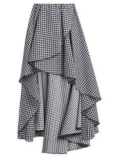 black and white gingham skirt Frilly Skirt, Gingham Skirt, Ruffle Skirt, Dress Skirt, Black And White Skirt, Black White, White Skirts, Scalloped Skirt, Vestidos Plus Size