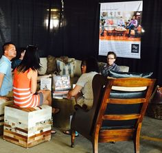 Guests relaxing and chatting while taking in #HWHome at the #DenverFlea