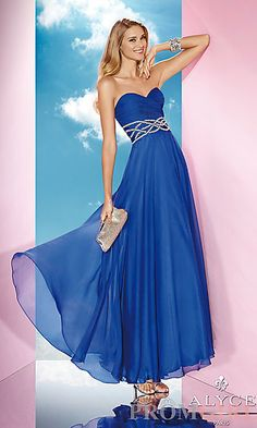 Long Strapless Sweetheart Evening Gown, $265 at PromGirl.com