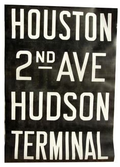 vintage new york subway sign