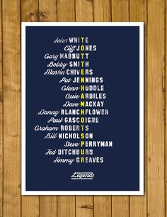 Tottenham Hotspur Legends poster on sale now https://www.etsy.com/uk/listing/243237517/tottenham-hotspur-fc-legends-poster-a3