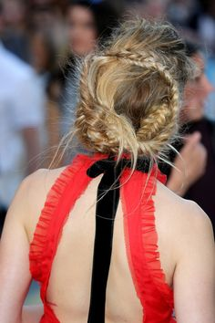 Amber Heard's intricately braided updo